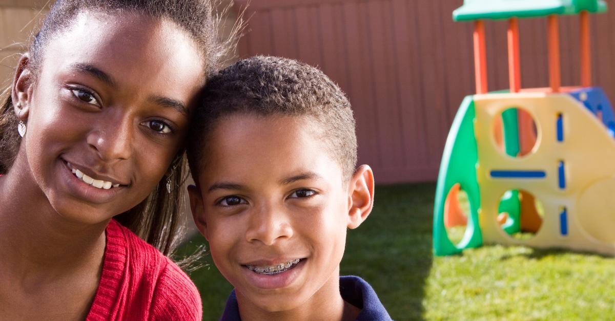 children enjoying benefits of early orthodontics